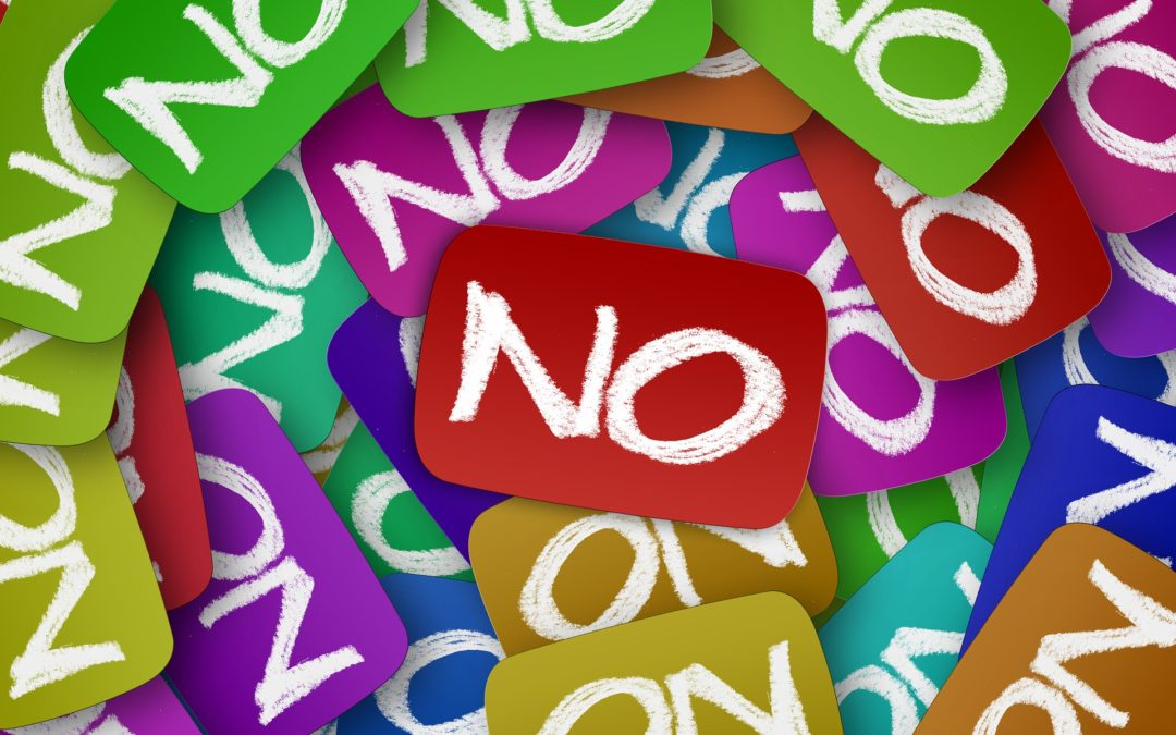 """The Importance of Learning to Say """"No"""""""